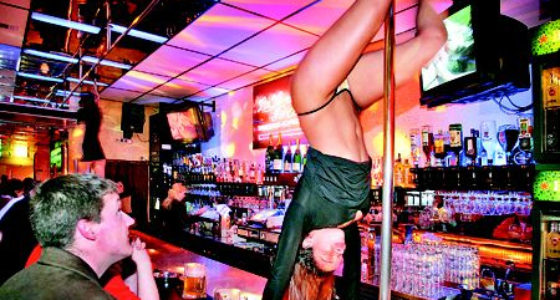 Amsterdam strip club heinekin